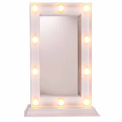 Mirror with LED-light