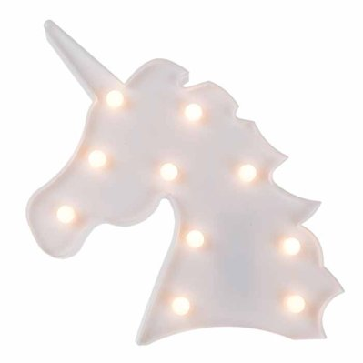 Unicorn with led lights white