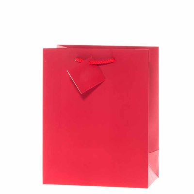 Gift bag red 23 cm