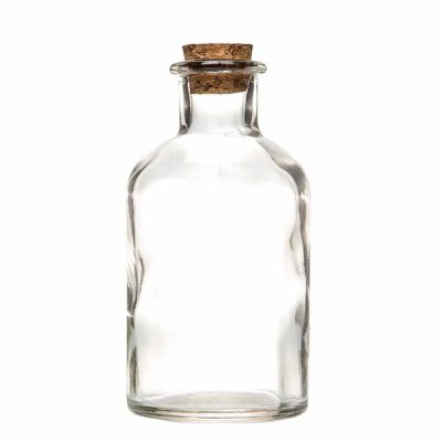 Glass bottle clear 12 cm