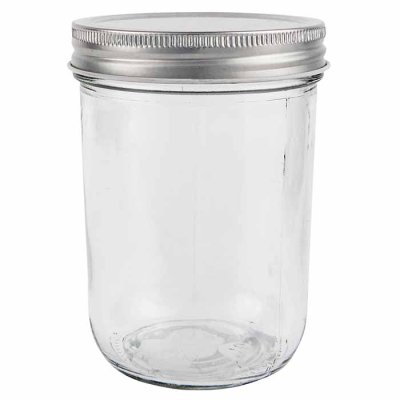 Glass jar 11,5 cm with metal lid