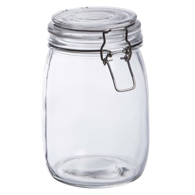 Glass jar 17 cm