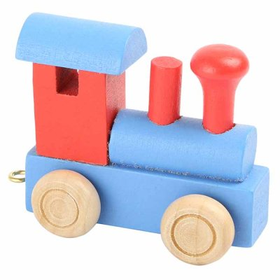 Letter train Locomotive blue-red