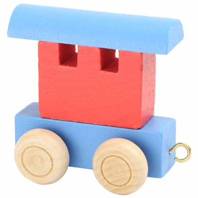Letter train Waggon blue-red