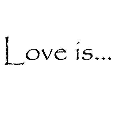 Love is... wall sticker, different sizes and colours
