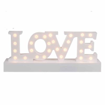Love decoration with LED-lights