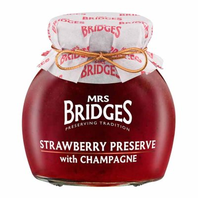 Strawberry Preserve with Champagne Mrs Bridges 340g