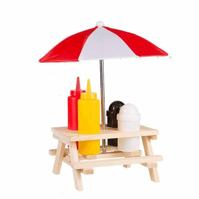 BBQ set with sunshade