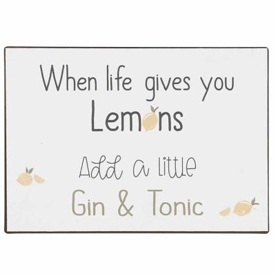Metal sign Gin & Tonic