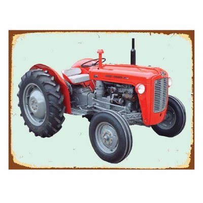 Metal sign Tractor M-F 35