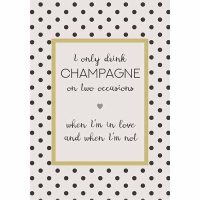 Metal sign Champagne on two occasion