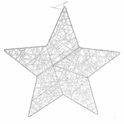 Metal star with glitter 30 cm
