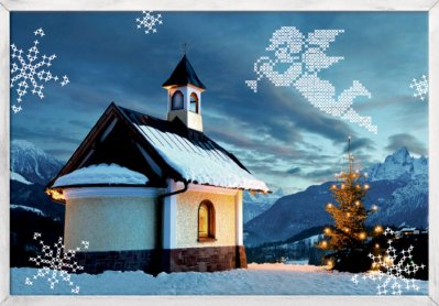 Christmas calendar Mini Winter church