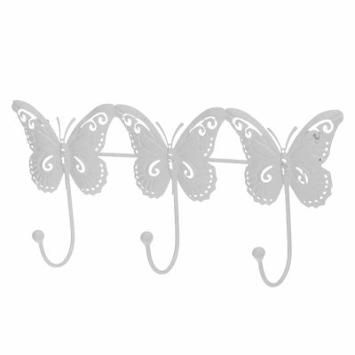 Coat hook butterfly white