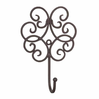 Coat hook dark brown 19 cm