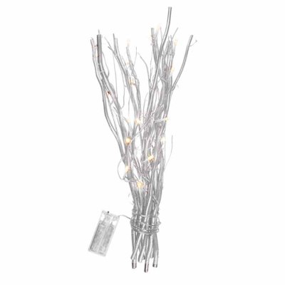 White coloured decoration twigs with 20 LED