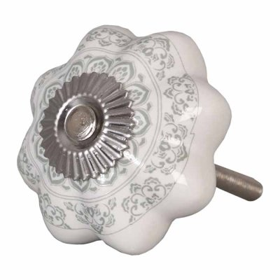 Door knob flower grey