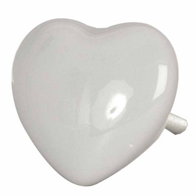 Door knob heart grey