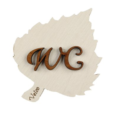 WC-Sign Leaf white