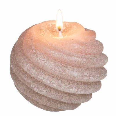 Ball Candle 8 cm light brown