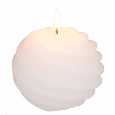 Ball Candle 8 cm white