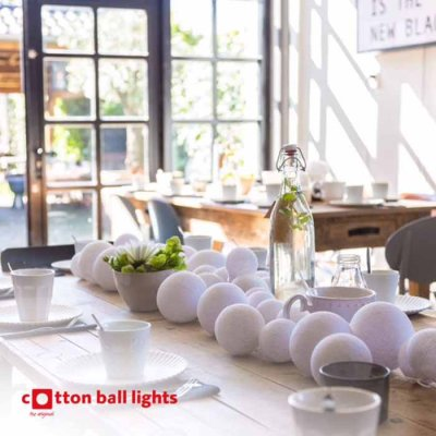 Cotton Ball string lights white special 20 balls