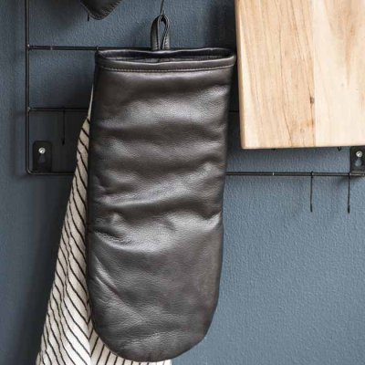 Grill glove Leather Black