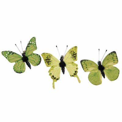 Butterfly ornament with clip green