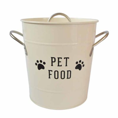 Pet Food bin beige
