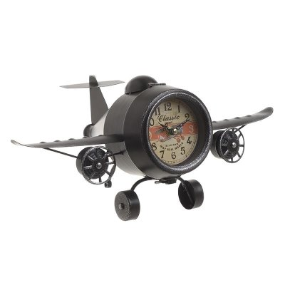 Table clock Airplane black