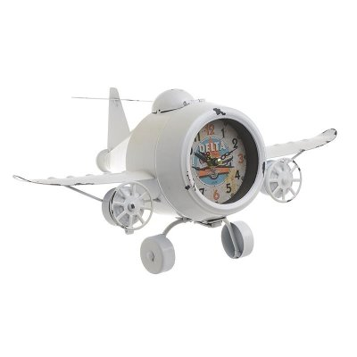 Table clock Airplane white