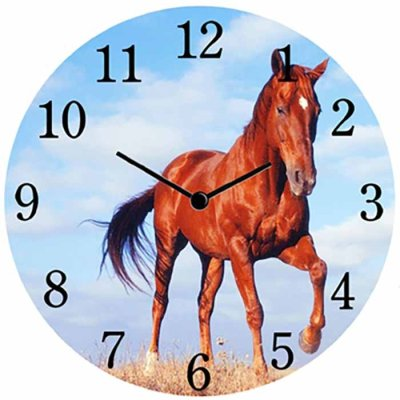 Wall / table clock 17 cm Horse