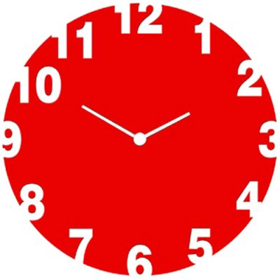 Wall / table clock 17 cm Red