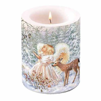 Candle Winter Angel 12 cm