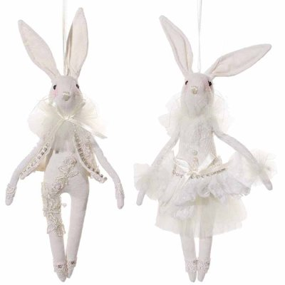 Bunny decoration hanging 27 cm
