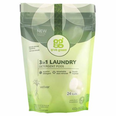 Laundry Detergent Pods 3in1 Vetiver