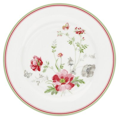GreenGate Meadow plate white