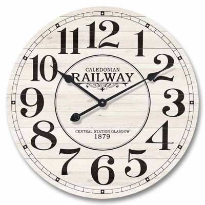 Wall clock 29 cm Railway