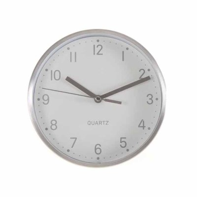 Table clock 16 cm chrome