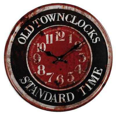 Wall clock 40 cm Old town
