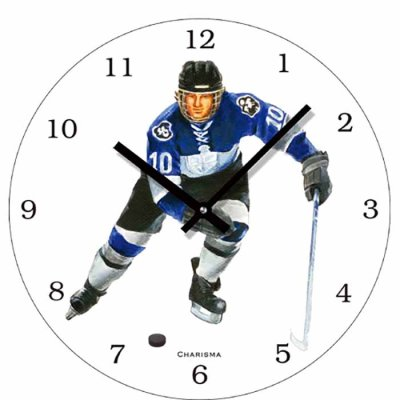Wall clock 30 cm Ice hockey