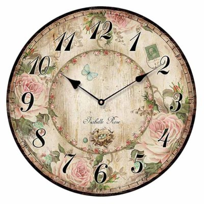 Wall clock 29 cm Isabelle Rose