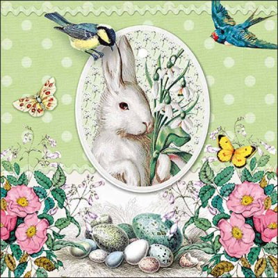 Napkin White Rabbit green