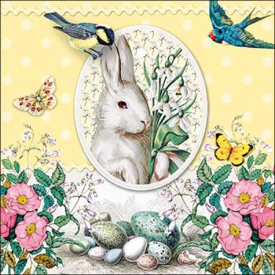 Napkin White Rabbit yellow