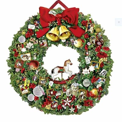 Christmas calendar Christmas wreath