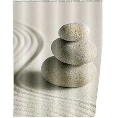 Shower curtain Sand and Stone