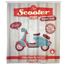 Shower curtain Vintage Scooter