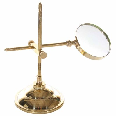 Brass magnifier stand shiny