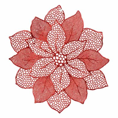 Place mat Christmas Star 48 cm red