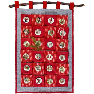 Christmas calendar with pockets
